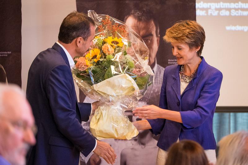 Guido Fluri Bundesrätin Simonetta Sommaruga